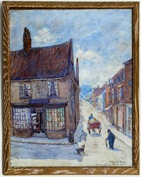 Painting of the Mercer Row - Upgate junction