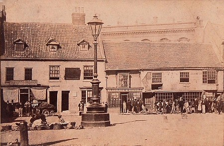 Market Place in 1865, Naull house on right