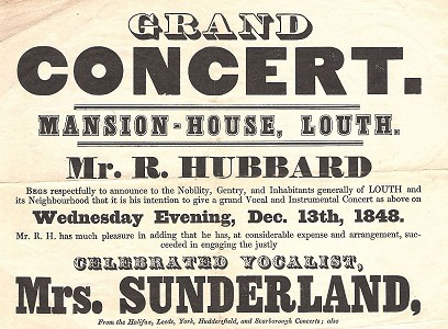 Poster for concert in the Mansion House