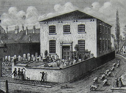 Baptist Chapel opposite the school, 1850