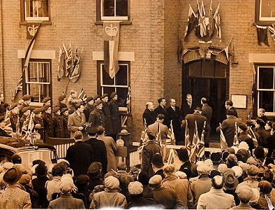 Ceremony outside the Council Offices