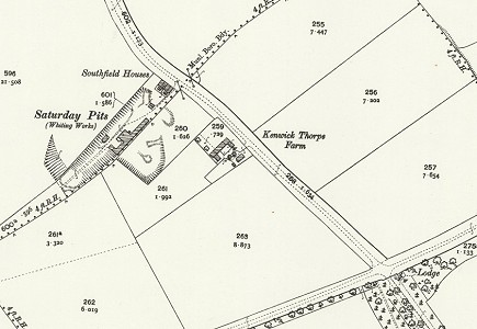 Location of Saturday pits, south of Louth